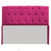 Cabeceira Lara 140 cm Casal Suede Pink - Doce Sonho Móveis