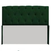 Cabeceira Lara 140 cm Casal Suede Verde - Doce Sonho Móveis