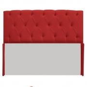 Cabeceira Lara 140 cm Casal Suede Vermelho - Doce Sonho Móveis