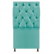 Cabeceira Sofia 100 cm Solteiro Suede Azul Tiffany - Doce Sonho Móveis