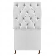 Cabeceira Sofia 100 cm Solteiro Suede Branco - Doce Sonho Móveis