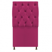 Cabeceira Sofia 100 cm Solteiro Suede Pink - Doce Sonho Móveis