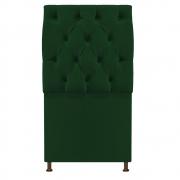 Cabeceira Sofia 100 cm Solteiro Suede Verde - Doce Sonho Móveis