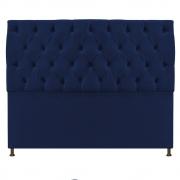 Cabeceira Sofia 140 cm Casal Suede Azul Marinho - Doce Sonho Móveis