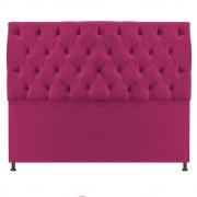 Cabeceira Sofia 140 cm Casal Suede Pink - Doce Sonho Móveis