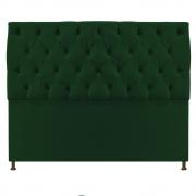 Cabeceira Sofia 140 cm Casal Suede Verde - Doce Sonho Móveis