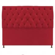 Cabeceira Sofia 140 cm Casal Suede Vermelho - Doce Sonho Móveis
