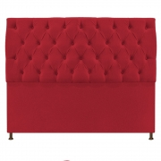 Cabeceira Sofia 195 cm King Size Suede Vermelho - Doce Sonho Móveis