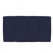 Cabeceira Suspensa Nina 100 cm Solteiro Corano Azul Marinho - Doce Sonho Móveis