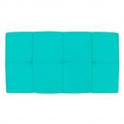 Cabeceira Suspensa Nina 100 cm Solteiro Corano Azul Turquesa - Doce Sonho Móveis