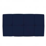 Cabeceira Suspensa Nina 100 cm Solteiro Suede Azul Marinho - Doce Sonho Móveis
