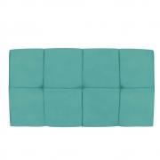 Cabeceira Suspensa Nina 100 cm Solteiro Suede Azul Tiffany - Doce Sonho Móveis