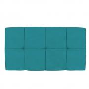 Cabeceira Suspensa Nina 100 cm Solteiro Suede Azul Turquesa - Doce Sonho Móveis