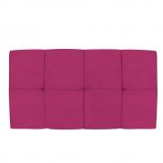 Cabeceira Suspensa Nina 100 cm Solteiro Suede Pink - Doce Sonho Móveis