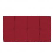 Cabeceira Suspensa Nina 100 cm Solteiro Suede Vermelho - Doce Sonho Móveis