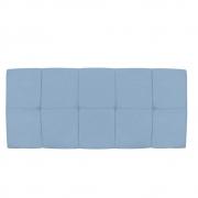 Cabeceira Suspensa Nina 140 cm Casal Corano Azul Bebê - Doce Sonho Móveis