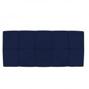 Cabeceira Suspensa Nina 140 cm Casal Suede Azul Marinho - Doce Sonho Móveis