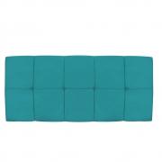 Cabeceira Suspensa Nina 140 cm Casal Suede Azul Turquesa - Doce Sonho Móveis