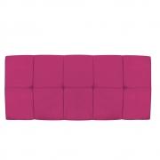 Cabeceira Suspensa Nina 140 cm Casal Suede Pink - Doce Sonho Móveis