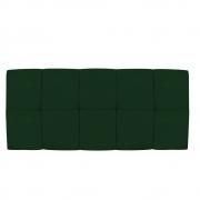 Cabeceira Suspensa Nina 140 cm Casal Suede Verde - Doce Sonho Móveis