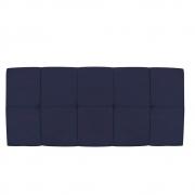Cabeceira Suspensa Nina 160 cm Queen Size Corano Azul Marinho - Doce Sonho Móveis