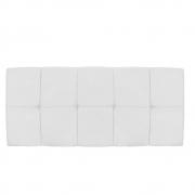 Cabeceira Suspensa Nina 160 cm Queen Size Corano Branco - Doce Sonho Móveis