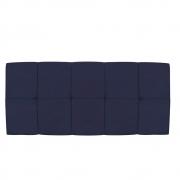 Cabeceira Suspensa Nina 195 cm King Size Corano Azul Marinho - Doce Sonho Móveis