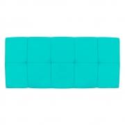 Cabeceira Suspensa Nina 195 cm King Size Corano Azul Turquesa - Doce Sonho Móveis