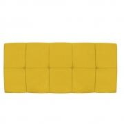 Cabeceira Suspensa Nina 195 cm King Size Suede Amarelo - Doce Sonho Móveis