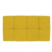 Cabeceira Suspensa Nina 90 cm Solteiro Suede Amarelo - Doce Sonho Móveis
