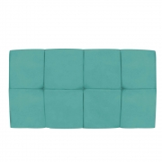 Cabeceira Suspensa Nina 90 cm Solteiro Suede Azul Tiffany - Doce Sonho Móveis