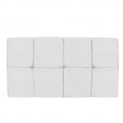 Cabeceira Suspensa Nina 90 cm Solteiro Suede Branco - Doce Sonho Móveis