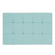 Cabeceira Suspensa Sleep 140 cm Casal Suede Azul Tiffany - Doce Sonho Móveis