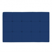 Cabeceira Suspensa Sleep 195 cm King Size Suede Azul Marinho - Doce Sonho Móveis