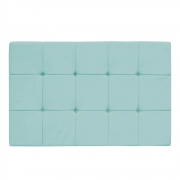 Cabeceira Suspensa Sleep 195 cm King Size Suede Azul Tiffany - Doce Sonho Móveis