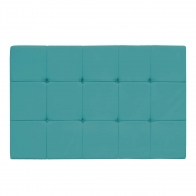 Cabeceira Suspensa Sleep 195 cm King Size Suede Azul Turquesa - Doce Sonho Móveis