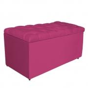 Calçadeira Estofada Liverpool 90 cm Solteiro Suede Pink - Doce Sonho Móveis