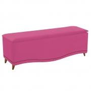Calçadeira Estofada Yasmim 160 cm Queen Size Suede Pink - Doce Sonho Móveis