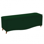 Calçadeira Estofada Yasmim 160 cm Queen Size Suede Verde - Doce Sonho Móveis
