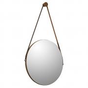 Espelho Redondo Decorativo Adnet Sunset Carvalho - Doce Sonho Móveis