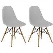 Kit 02 Cadeiras Decorativas Eiffel Charles Eames Branco - Doce Sonho Móveis