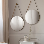 Kit 02 Espelhos Redondo Decorativo Adnet Sunset Malbec - Doce Sonho Móveis