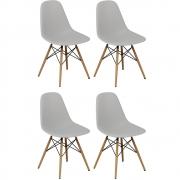 Kit 04 Cadeiras Decorativas Eiffel Charles Eames Branco - Doce Sonho Móveis