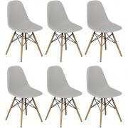 Kit 06 Cadeiras Decorativas Eiffel Charles Eames Branco - Doce Sonho Móveis