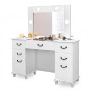 Penteadeira Camarim c/ Espelho Louise Retrô Branco - Doce Sonho Móveis