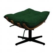 Puff Decorativo Costela Base Giratória Suede Verde - Doce Sonho Móveis
