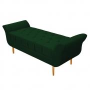 Recamier Estofado Ari 195 cm King Size Suede Verde - Doce Sonho Móveis