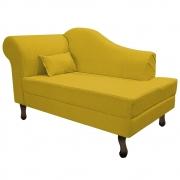Recamier Rafaela 140cm Lado Direito Suede Amarelo - Doce Sonho Móveis