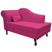 Recamier Rafaela 140cm Lado Direito Suede Pink - Doce Sonho Móveis