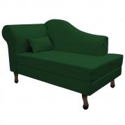 Recamier Rafaela 140cm Lado Direito Suede Verde - Doce Sonho Móveis